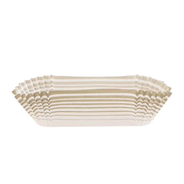 Supreme Baking Cups with Taupe Stripes 72 ct