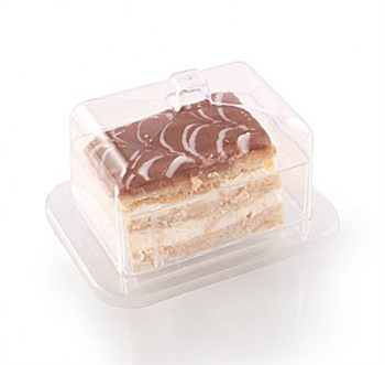 Square Plates with Lid - 6 per Pack
