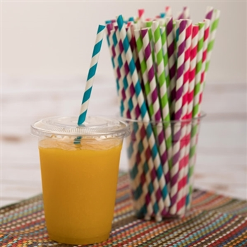 Colorful Paper Straws 150 Ct