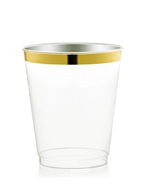 2.5 oz. Gold Rim Cups by Gold Settings - 14 per Pack