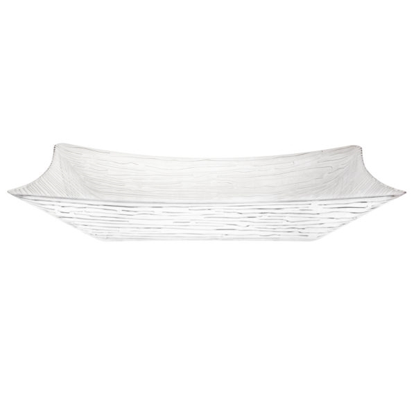 Textured Salad Bowl Rectangle Clear 96 oz