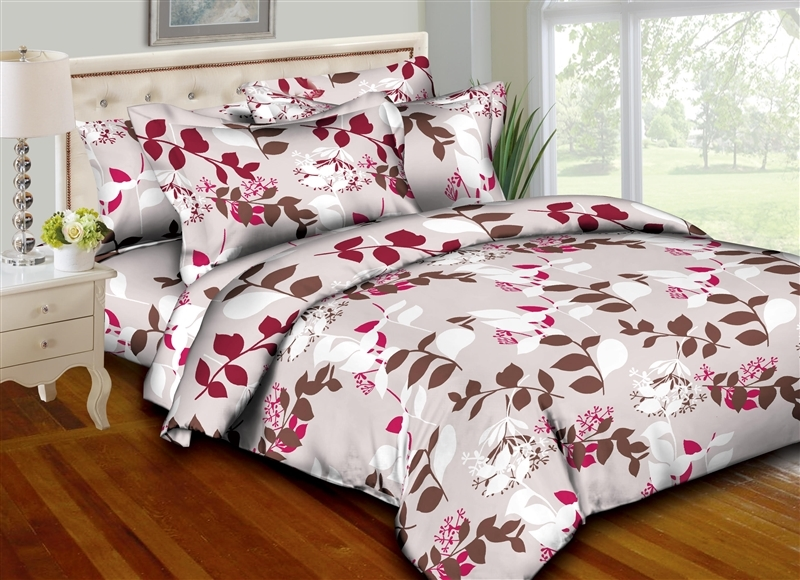 Better Bed Collection: Chic Leaves 8PC Twin Bedding Set