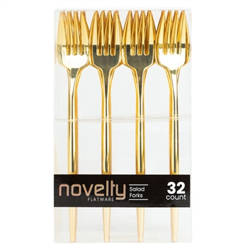 Novelty 32Ct Gold Salad Forks