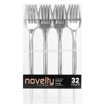 Novelty 32Ct Silver Salad Forks