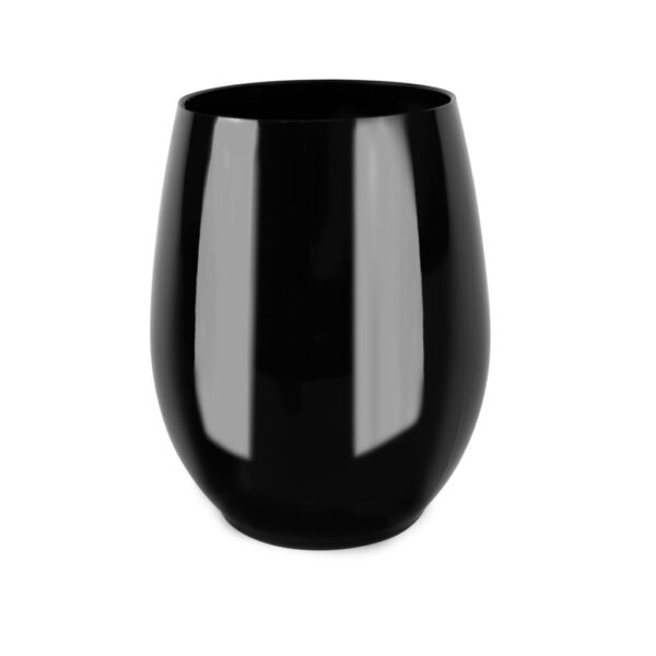 12 oz Stemless Goblets 6 ct in Black