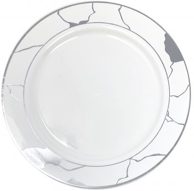 Decor Marble Collection White and Silver