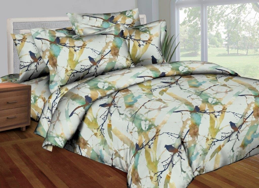 Better Bed Collection: Better Bed Watercolor Birds 8 Pc Bedding Set
