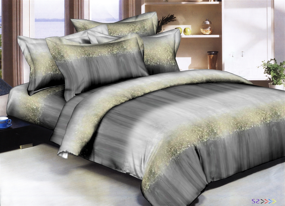 Better Bed Collection: Glitzy Stripes 8PC Bedding Sets - 300 Thread Count