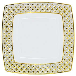 Decor Diamond Gold Collection Dinner plates - Choose Plate Size