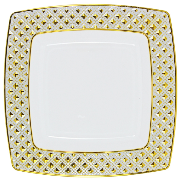 sc 1 st  The Closeout Connection & Decor Diamond Gold Collection Dinner plates - Choose Plate Size
