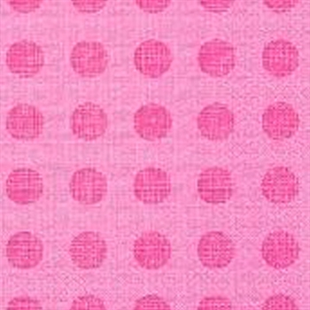 Pink Polka Dot Napkin 20 Ct - Dinner Party & Holiday Napkins