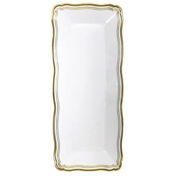 Decor Hammered Collections White Trays - 2 pack, elegant disposable serving trays for parties