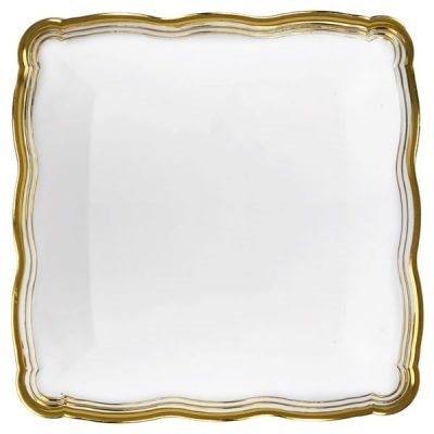 silver or gold collections White Trays - 2 pack, elegant disposable serving trays for parties