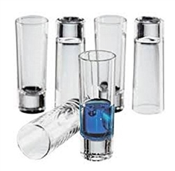 Circleware Blue Velvet 2.5oz Shot Glasses- Set of 6