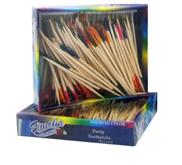 Party Toothpicks in Assorted Colors 144 ct