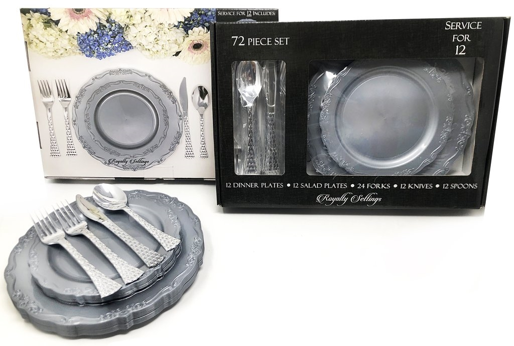 Casual Collection Silver Plates and Cutlery