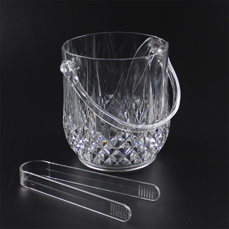 Crystal Ice Bucket W/ Tongue