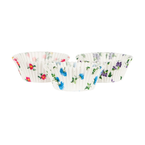 Floral Pattern Baking Cups 72 ct