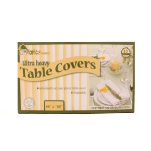 "Disposable Clear Plastic Table Covers 66"" x160"""