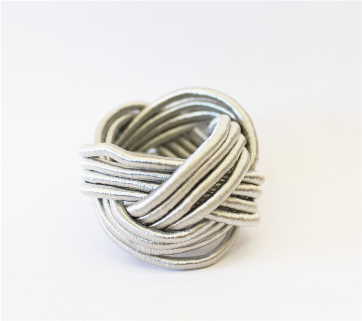 Silver Rope Design Napkin Rings - Set of 4