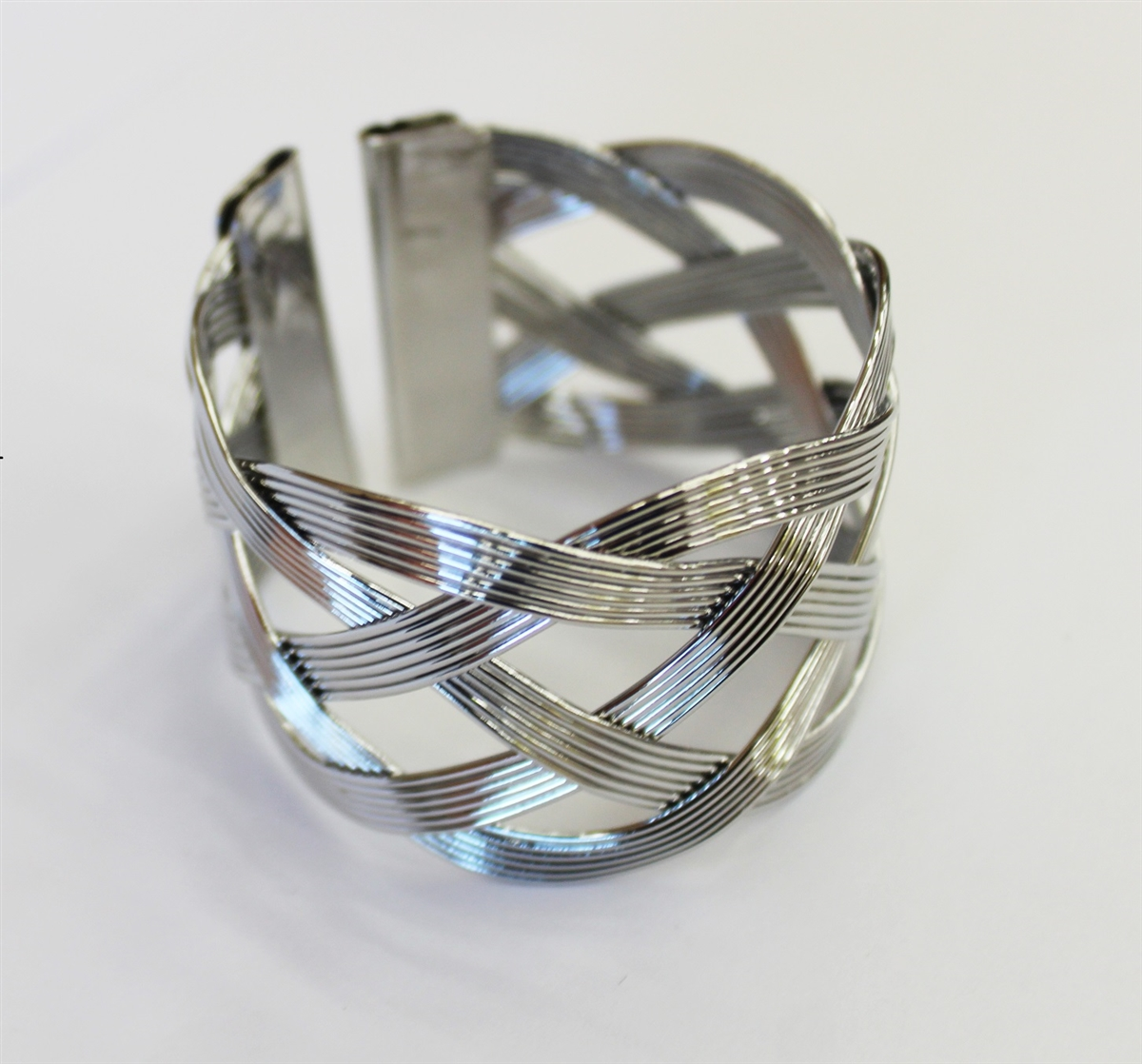 Silver Wavy Design Napkin Rings - Set of 4