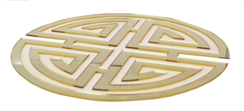 Acrylic Gold Geometric Design Mirror Charger