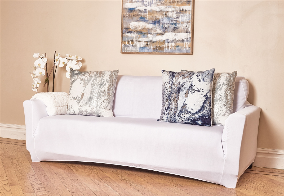 Stretch Couch Protector in White