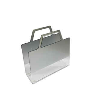 Lucite Napkin Holder with Silver Accent