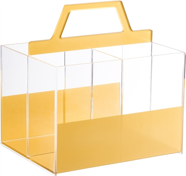 Lucite Utensil Holder with 4 compartments