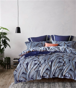 Palm Garden 8PC 100% Satin Cotton Bedding Set