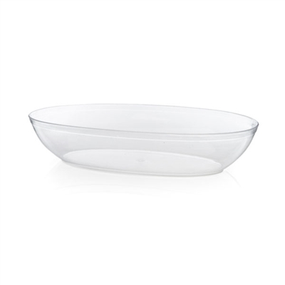 small Oval Clear Plastic Serving Bowl .