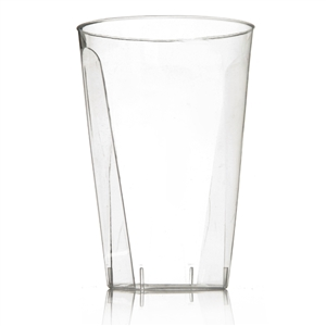 7oz Hard Plastic Cups That Look Real (20) - Disposable Party Cups