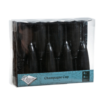 Black Champagne Cups 6 oz  8 Ct