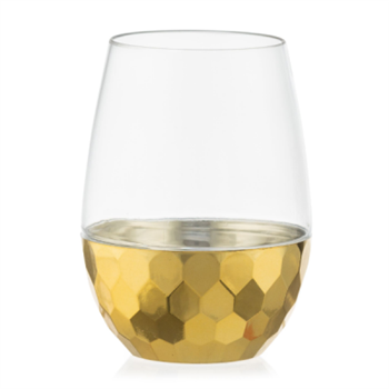Decor Stemless Wine Goblet Gold