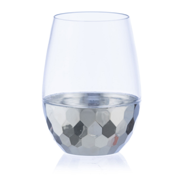 Decor Stemless Wine Goblet Silver