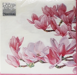 Magnolia Cream Decorative Napkins - 20 ct