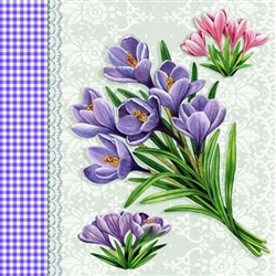Crocus Cream Decorative Napkins - 20 ct