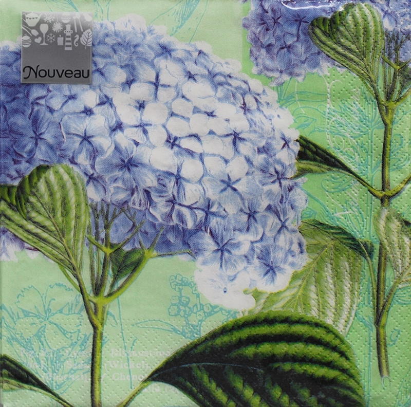 Hydrangea Decorative Napkins, 20 Ct - Dinner Party & Holiday Napkins