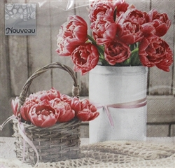 Peony Decorative Napkins - 20 ct