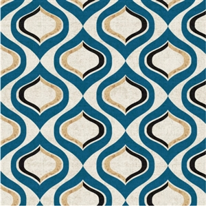 Pattern Blue Decorative Napkins - 20 ct