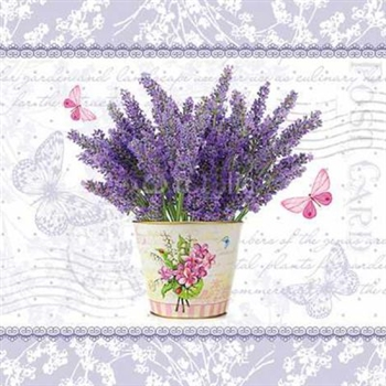 Flowering Lavander Decorative Napkins, 20 Ct - Dinner Party & Holiday Napkins