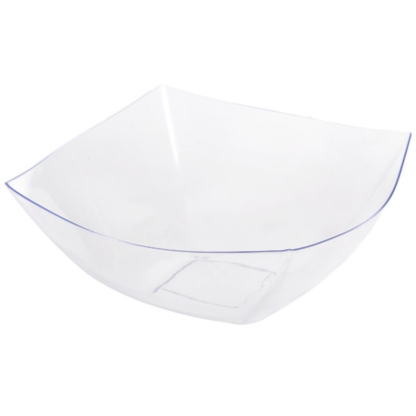 Fancy Square Clear Plastic Serving Bowl - 128 oz