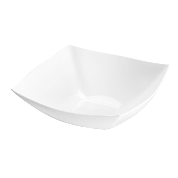 Fancy Square White Plastic Serving Bowl - 64 oz