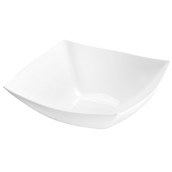 Fancy Square White Plastic Serving Bowl 128 Oz