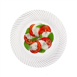 "High Quality MY STYLE 9"" plates 120 count, luxury disposable party plates, plastic designer wedding plates, high end disposable plates for weddings or catered events"