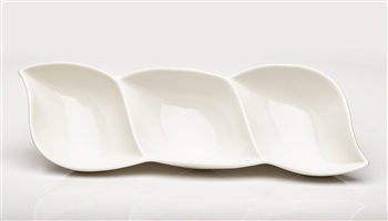 3 Sectional ceramic dish