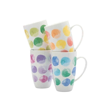 Maxwell & Williams Colour Drops Gift Boxed 4 Coupe Mugs