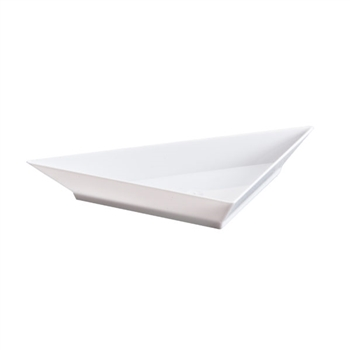 Mini White Triangular Dish 12 Ct