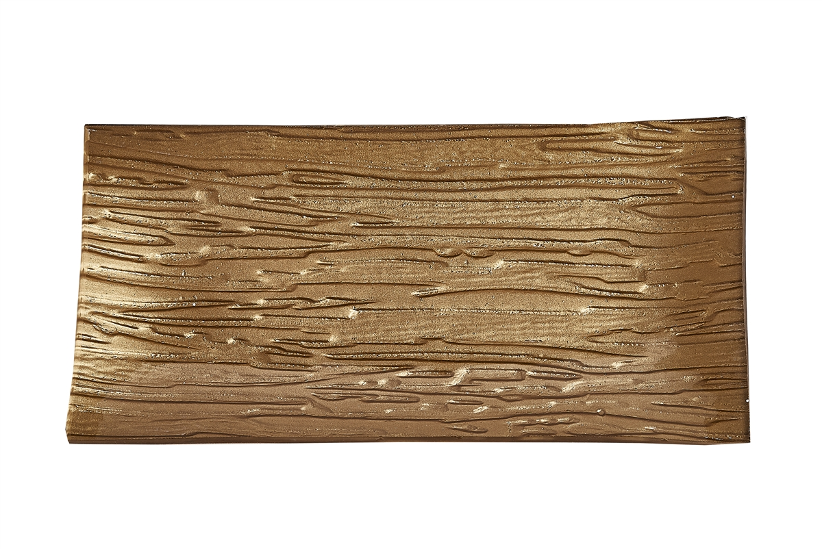 Golden Ripples Glass Tray- Small