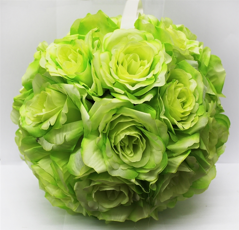 Green Rose Ball Hanging Decoration